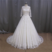 Pricess dress grace bateau neckline best sell bridal wedding dress gown