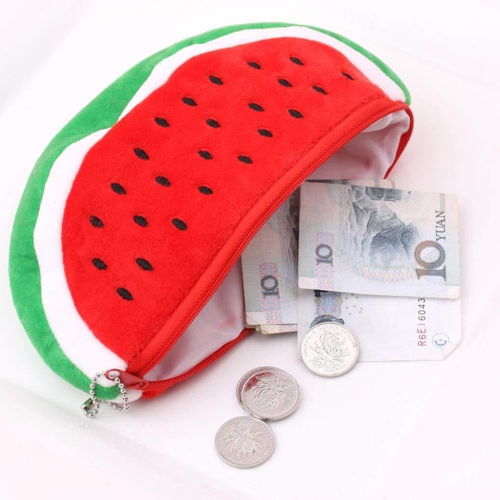 Rumas Ultra Light Pencil Bag with Handle, Zipper Closure, Watermelon Coin Bag Purse Wallet for Kids Students Women Men (Multicolor)