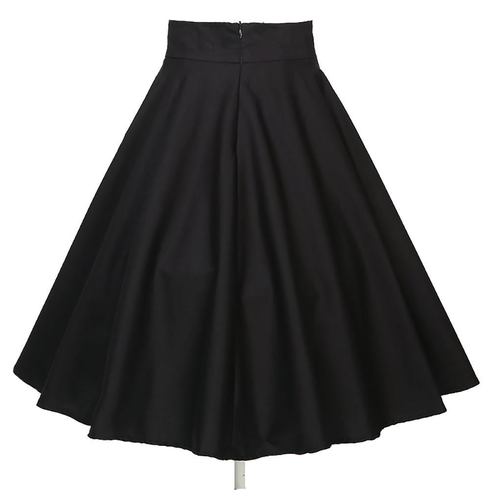 latest design rockabilly clothing women umbrella black full circle pleated skirts