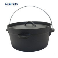 Custom Size Cast Iron Mini Dutch Oven for camping