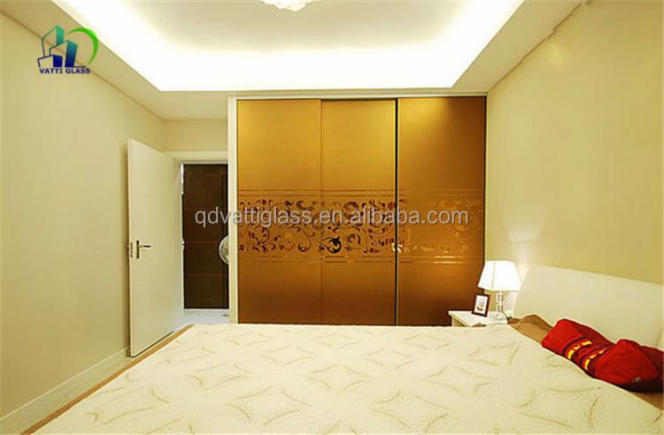 Large Sliding Tinted Glass Doors For Wardrobe Decoration Tinted