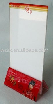 cocola red Acrylic menu table stand factopry supply