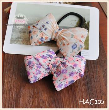 Pelo broche de lazo de tela broche arco Pelo elástico corbata floral del  pelo 3dc62ccc8eeb