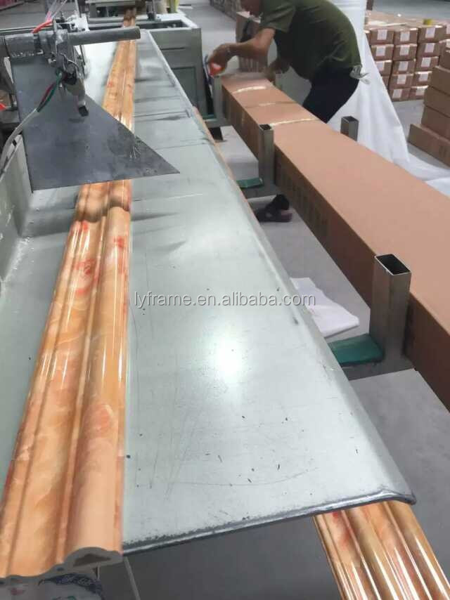 Waterproof And Fireproof PVC Marble Decorative Line Moulding For Wall And Ceiling