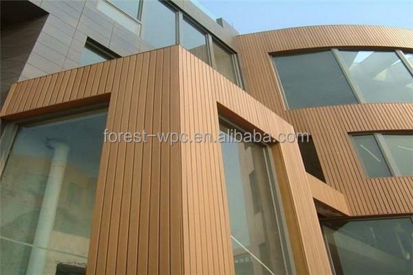150x13mm 합성 목재 나무 벽 플라스틱 돌 벽 패널 나무 루버 ...
