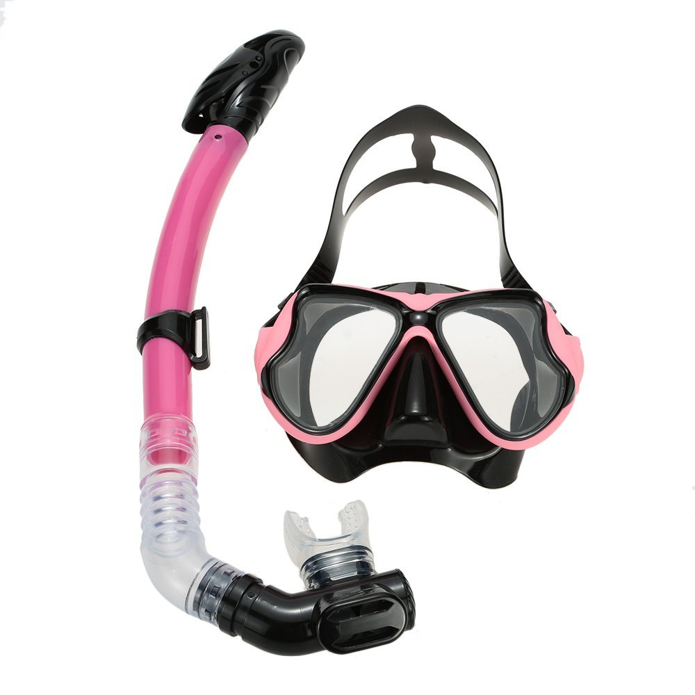 Snorkel Mask Swimming Diving Goggle Breathing Full Dry Snorkel Tube Snorkeling Goggles Scuba Mask Set