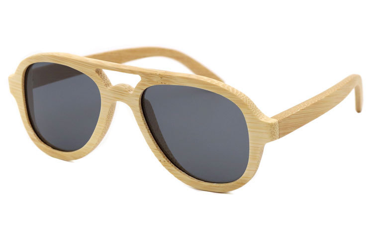 FQ brand custom logo polarized unisex bamboo wood sunglasses