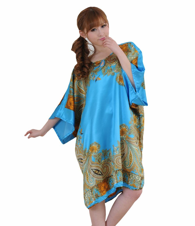 Get Quotations · Plus Large Size Women Silk Sleepwear Dress 2015 Fashion Women  Plus Size Nightwear Printed Hot Sale dc8dbe304
