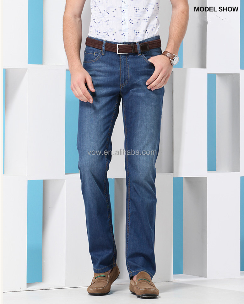 100% Cotton Loose Straight Plus-size Jeans Pants Models For Men