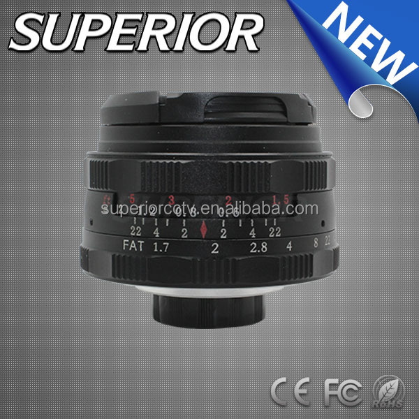 "Micro SLR 8.0 MP Focal length 35mm megapixel ""cctv lens"" manual focus F1.7 C Mount Lens clear Projector Lens"