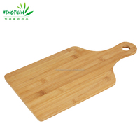 Custom bamboo pizza peel or board