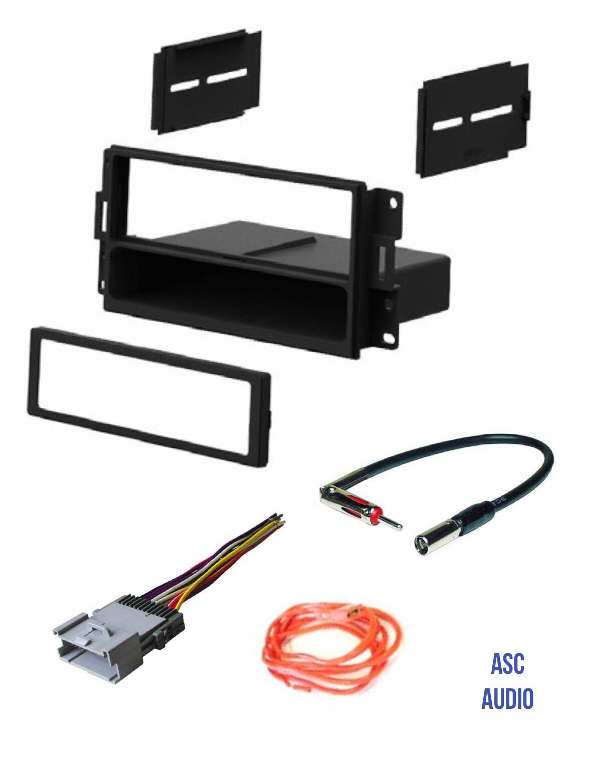 Get Quotations · ASC Audio Car Stereo Radio Dash Install Kit, Wire Harness,  and Antenna Adapter to