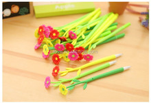 Flower shape gel pen plastic ballpoint pen 0.38mm penfor office & student