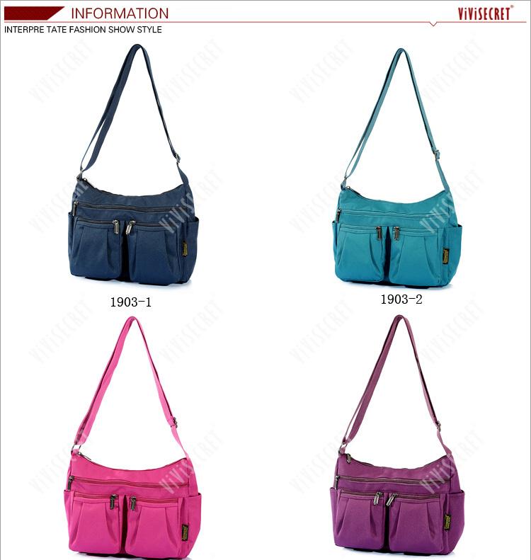 Branded Women Sling Bag Polyester New Design Wholesale Pink Sling ...