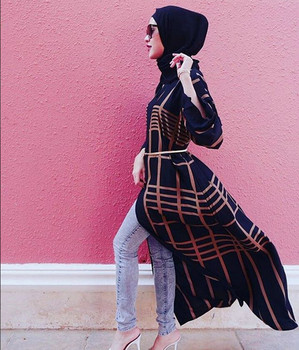 Modern Design Women Maxi Dress Muslim Dress Cardigan Long Shirt Open Abaya Kimono