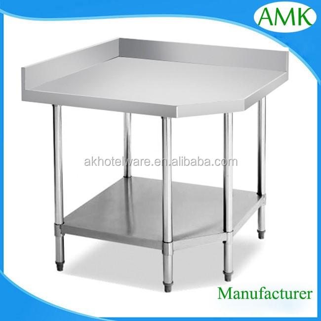 Cocina Comercial Nuevo Diseño Esquina Mesa/mesa De Comedor De Acero ...
