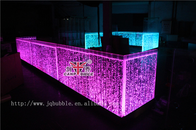 Newest Ktv Bar Night Club Decor Aquarium Counter Height