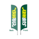 Shop cheap custom promotional outdoor ground spike advertising beach flying feather flag 3.5m
