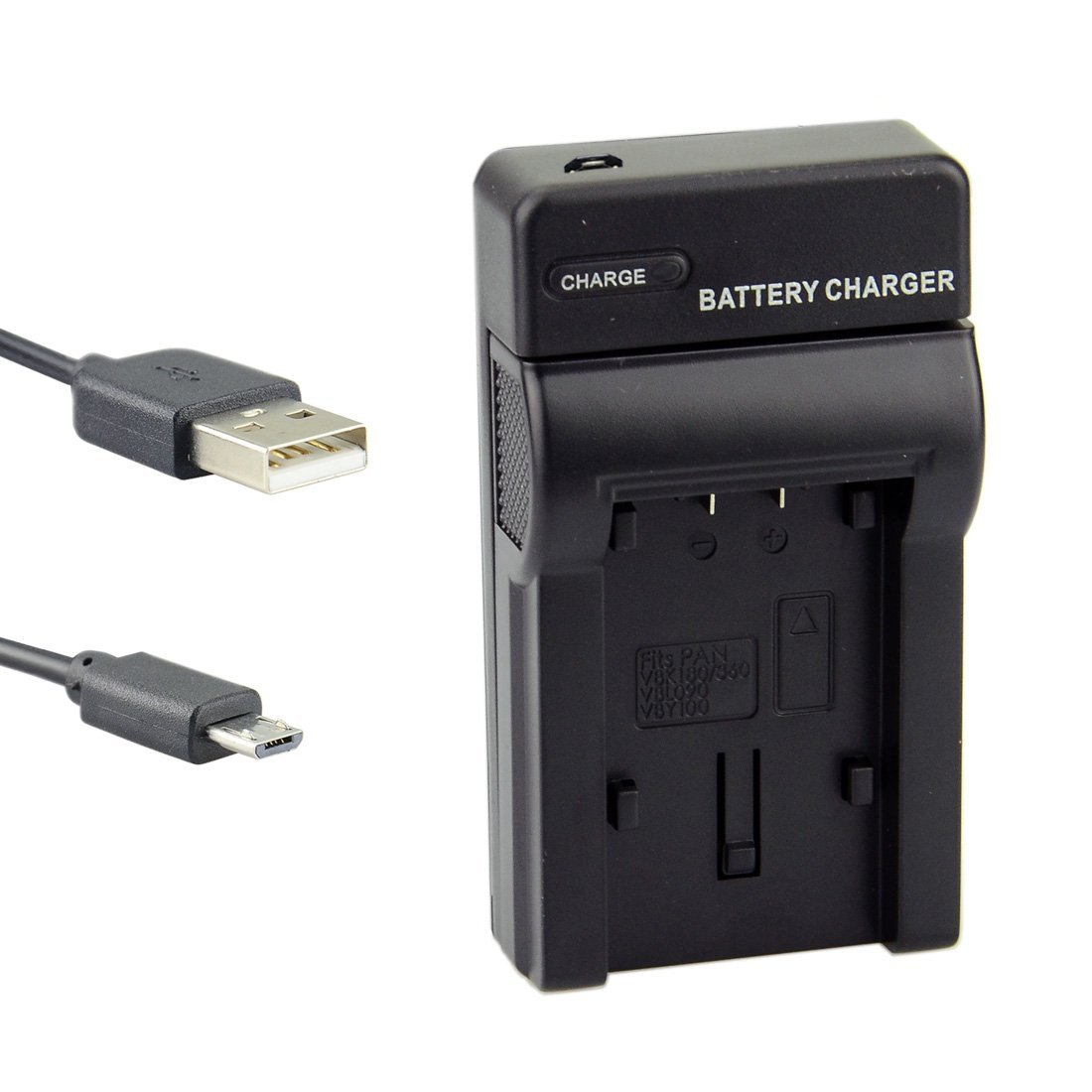 DSTE Micro USB Battery Charger for Panasonic VW-VBK180 VW-VBK360 VW-VBY100