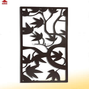 JHC leaves design decorative living room hanging metal screen divider