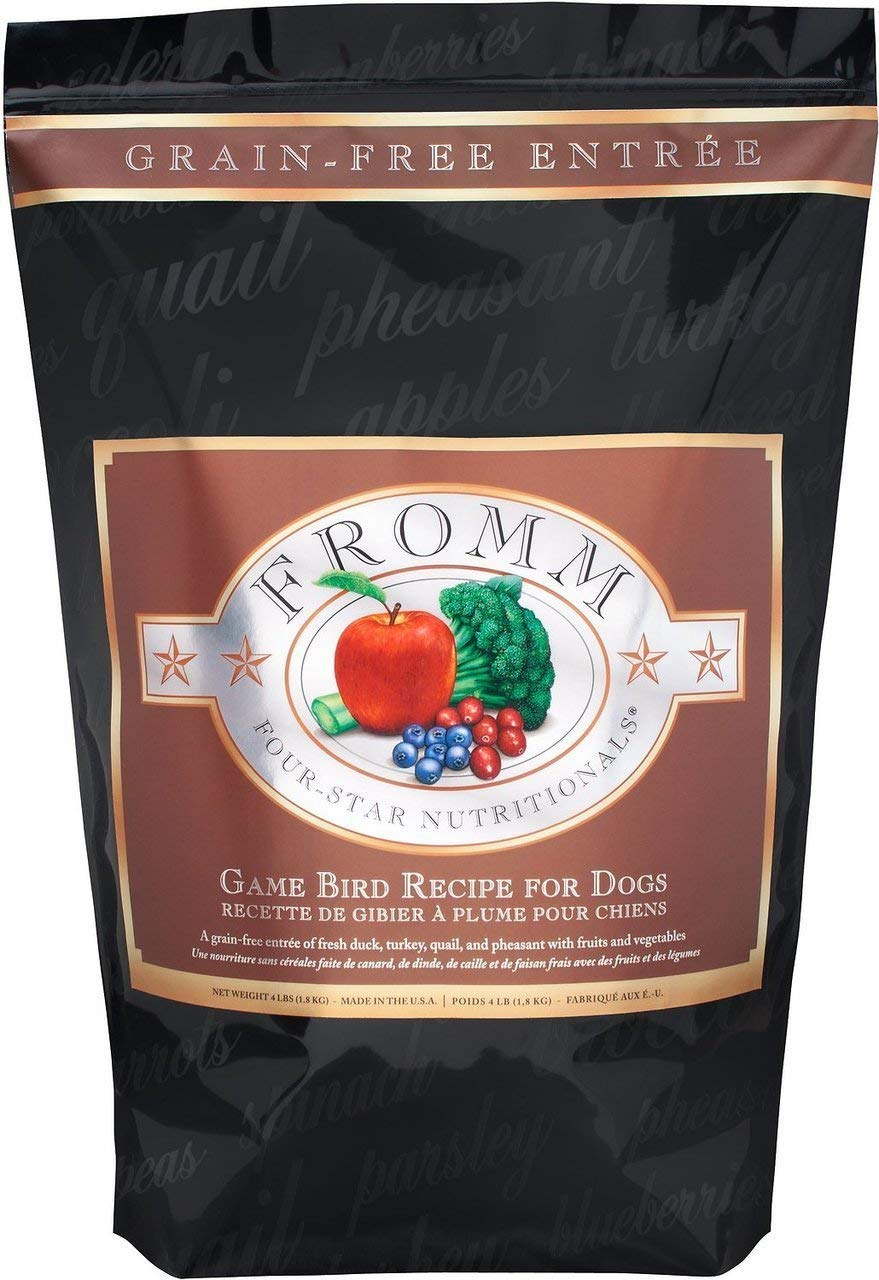 Fromm Family Foods 12 lb Four Star Grain Free Dry Dog Food, Game Bird Recipe (1 Pack), one size