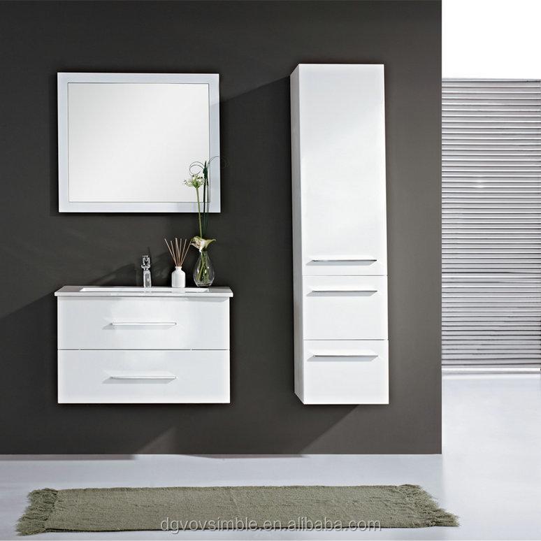 Europe Noro Simble White High Gloss Bathroom Vanity Unit