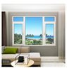 Foshan factory unbreakable window glass bullet proof glass aluminium casement windows