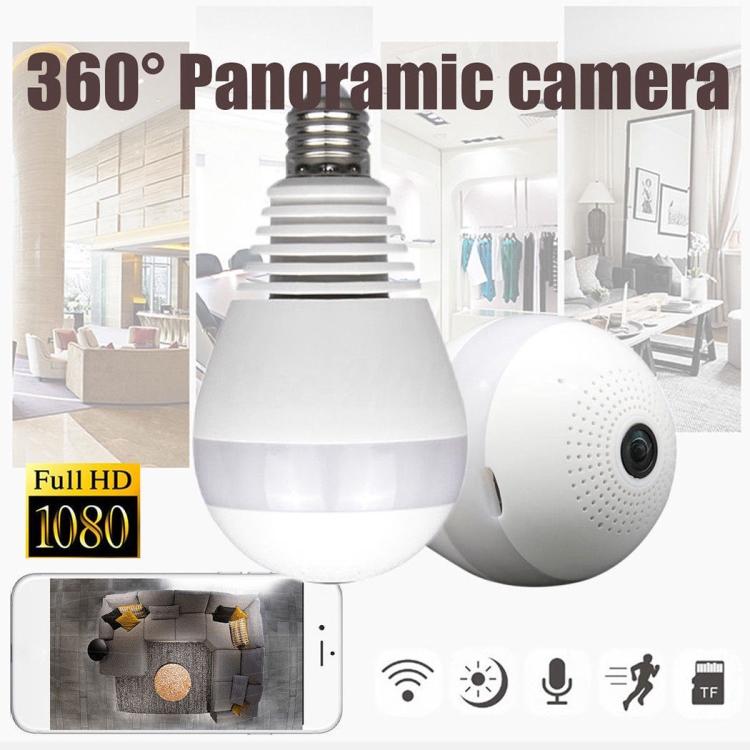 Fisheye v380s ip camera wide angle surveillance camera bulb 360 degree vr  camera 2MP home security, View v380s ip camera, VITEVISION Product Details