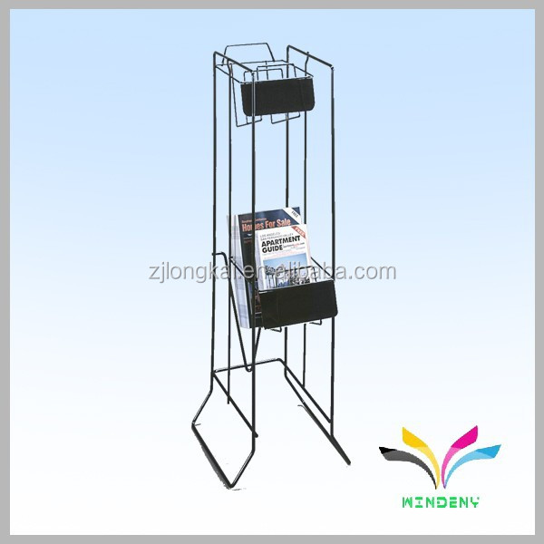 High quality magazine holder Metal Wire Stair Shelf