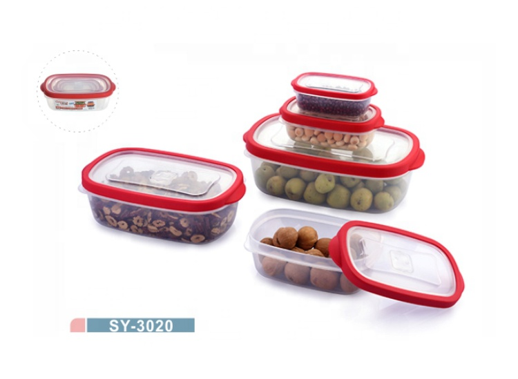 Household kitchen airtight food storage container set