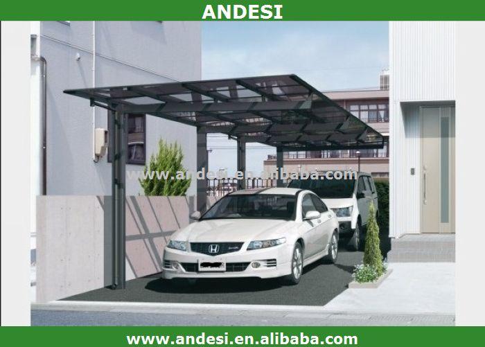 Outdoor Glass Roof Metal Car Garage Port Buy Car Shade Port