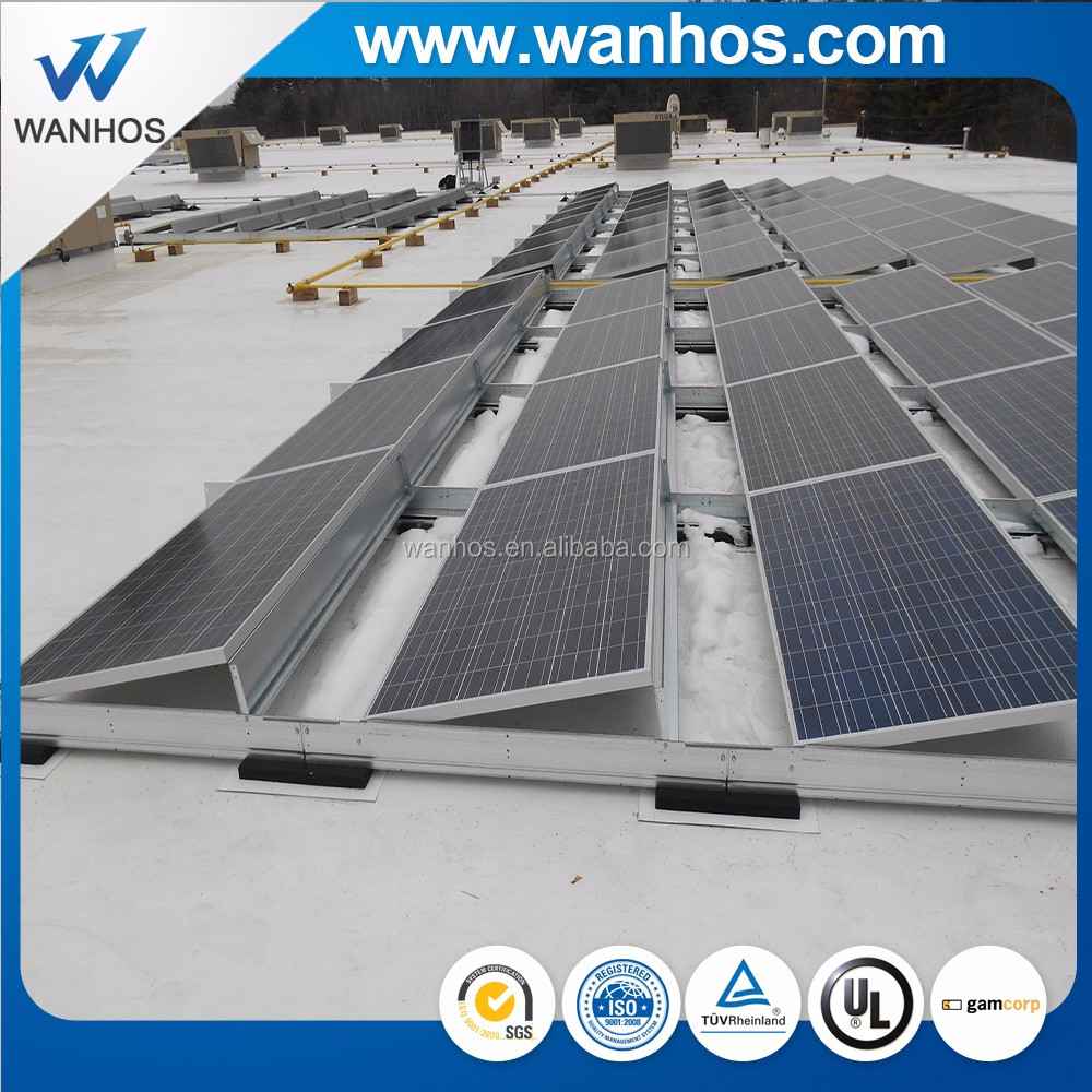 Photovoltaic Solar Ballast Mounting System Flat Roof