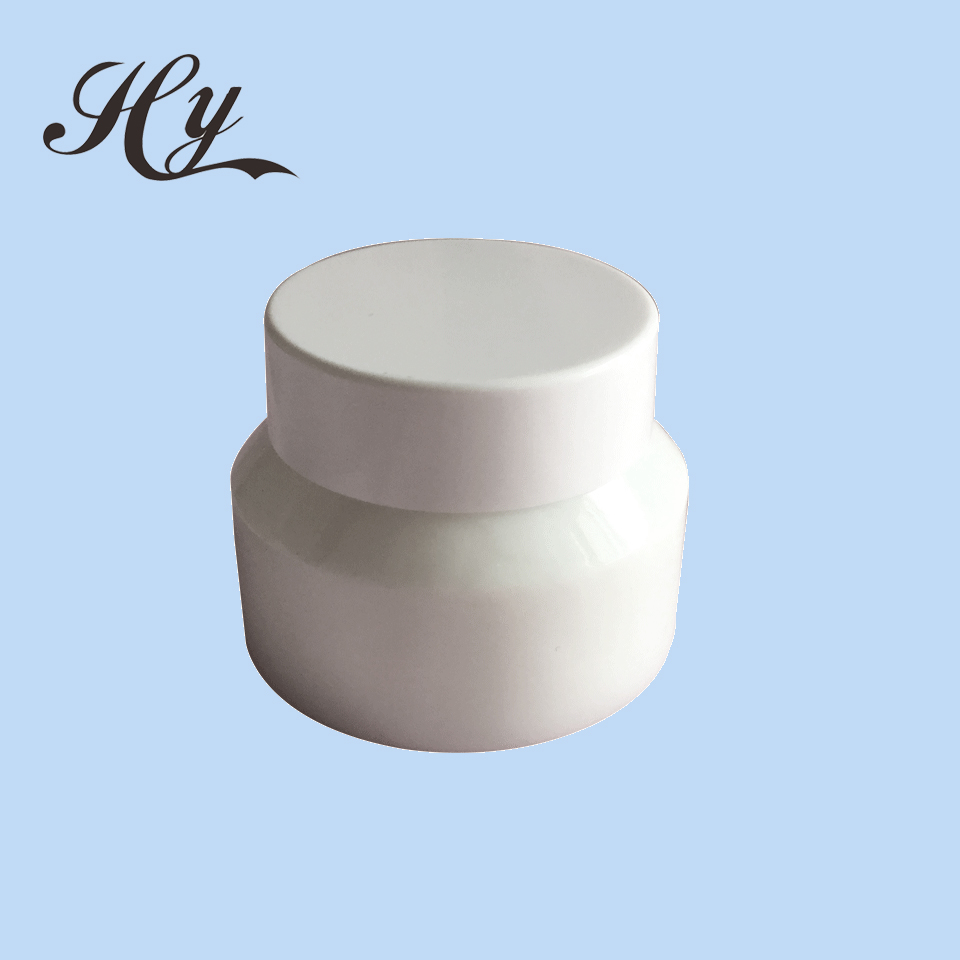 mini silicone frosted opal glass cosmetic jar 50ml
