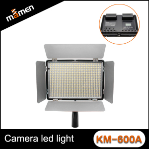 Fashion Camera LED Light With LCD Screen Indicator KM-600A With 600 Leds High Quality Studio LED Video Camera Light For DSLR