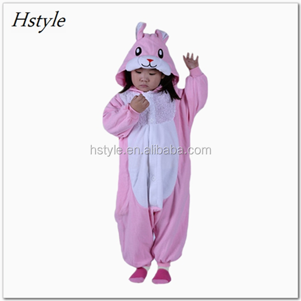 Kids Pink Rabbit Animal Onesie Costume Pyjamas Wholesale DWY118K