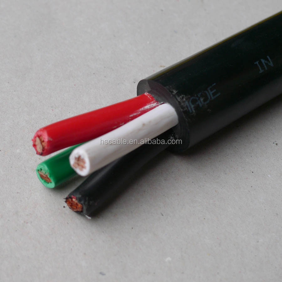 Flexible 3x16 3x14 3x12 3x10 4x10 4x8 Awg 600v St Electric Cable ...