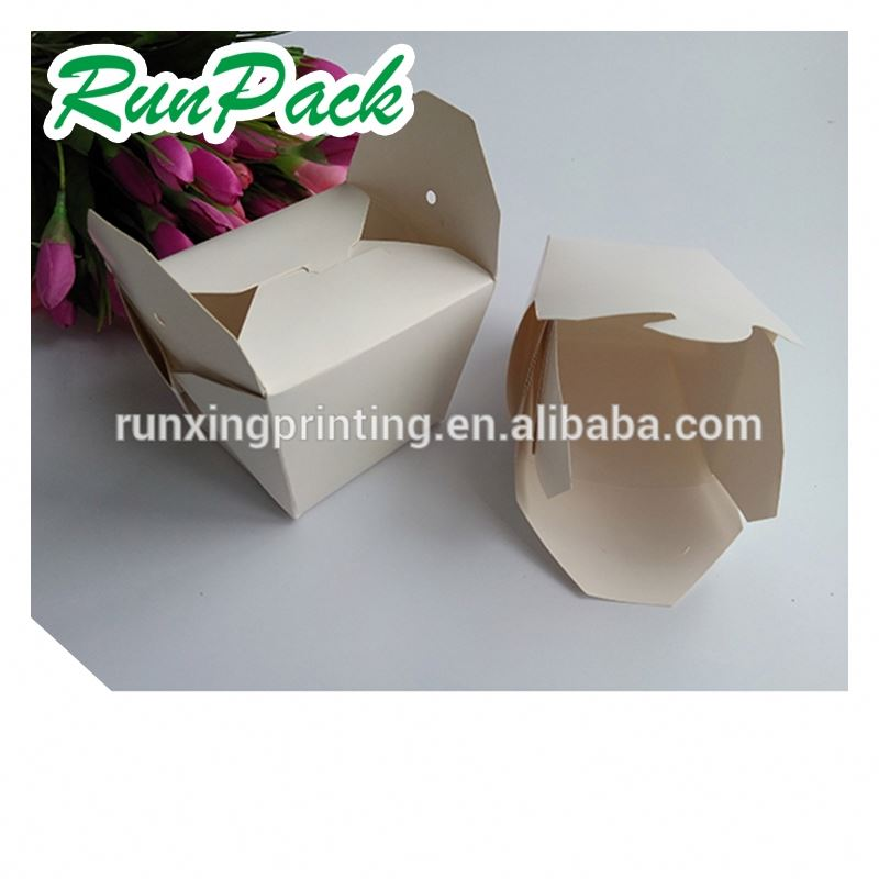 food folded cardboard box fast food restaurant equipment