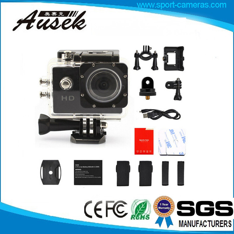 china shenzhen drone go pro action camera video camcorder 720p waterproof 30m sport hd camera