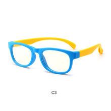 Синий светильник, очки для детей 2018, для мальчиков и девочек, квадратная блокировка, компьютер, прозрачные очки, оптическая оправа, UV400 Oculos ...(Китай)