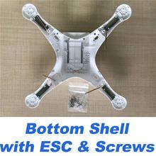 Подлинная DJI Phantom 3 SE корпус Верхняя Нижняя оболочка с винтами ESC шасси с компасом и антенной Запасная часть(Китай)