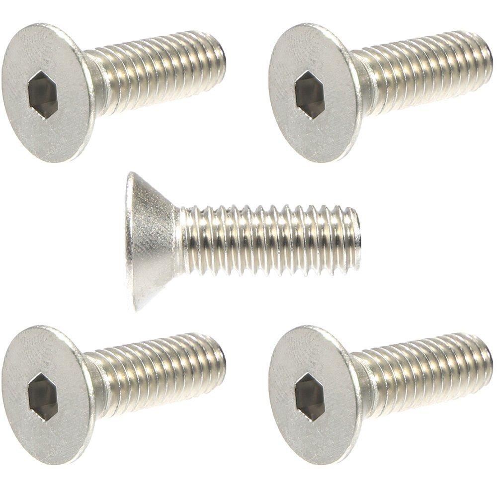 Qty 100 Black Oxide Stainless Steel Flat Socket Head Screw 10-32 x 3//8