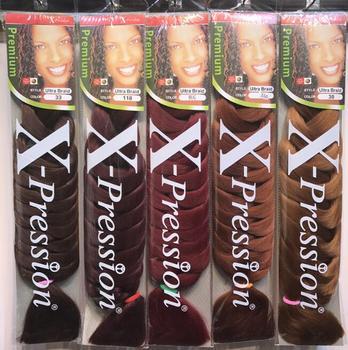 X Pressions Kanekalon Braiding Hair Jumbo Braid 165g 82inch Brand Synthetic Extensions