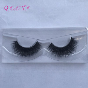 Natural false eyelashes hand made mink hair lashes fake eyelashes