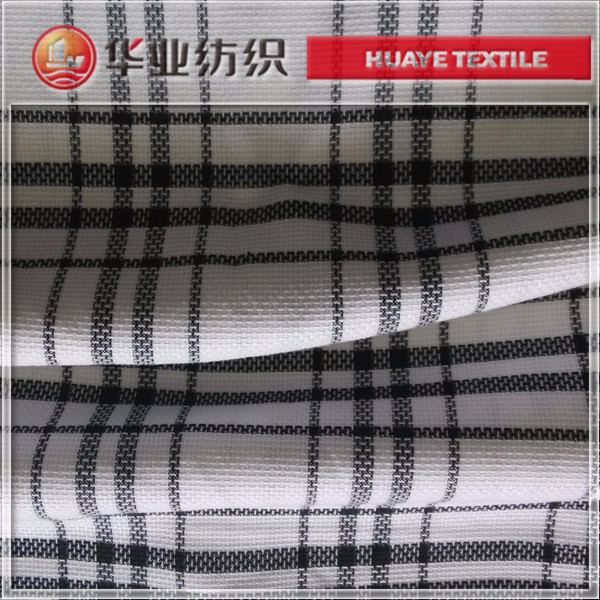 yarn dyed cotton spandex check twill denim fabric for blazer