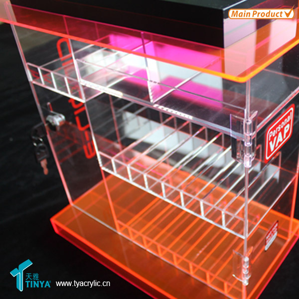 Hot Sale Clear Acrylic E-juice Display Case,Custom Plastic Display ...