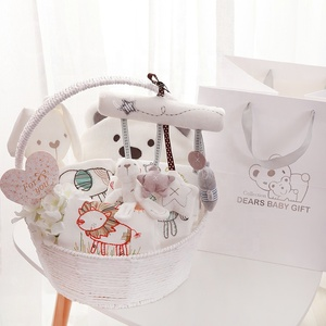 Cocostyles bespoke premium exquisite baby shower gift baskets baby favors gift sets for newborn baby girl boy gift
