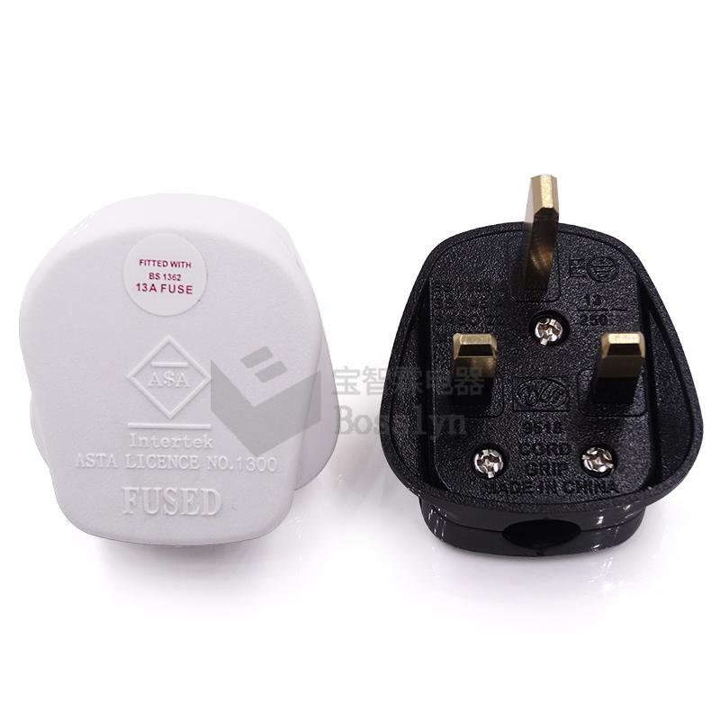 1 x Schuko European Rewireable Plug 250V 16 Amp White Bakelite Plug Type F