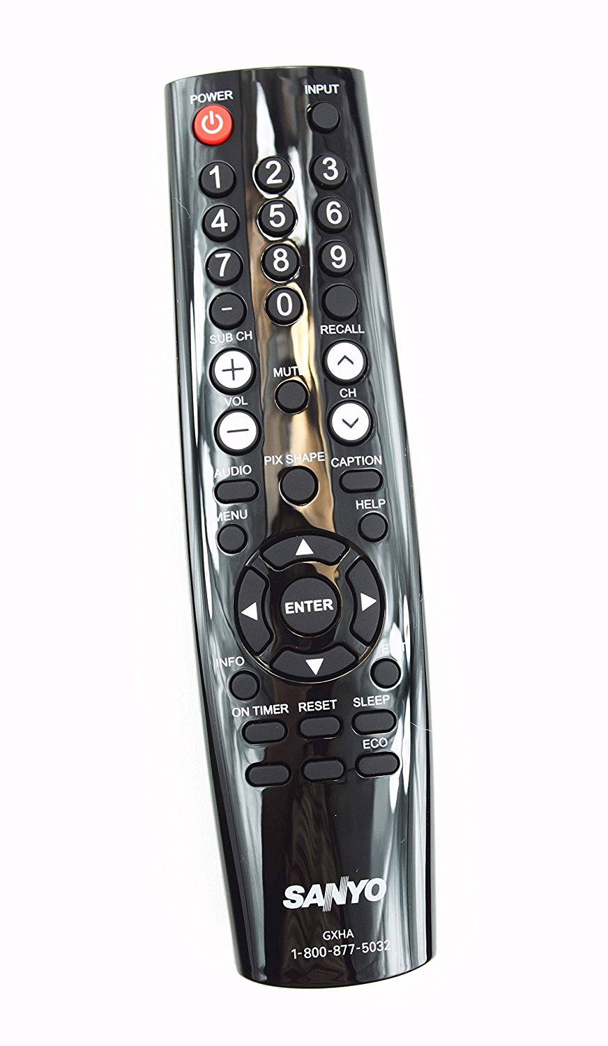 NEW Sanyo LCD LED TV Remote Control GXHA Supplied with models FVD5833 DP50843 DP58D33