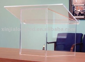 Factory Direct Sale Perspex Podium Acrylic Tabletop Lectern Acrylic Desktop Lectern