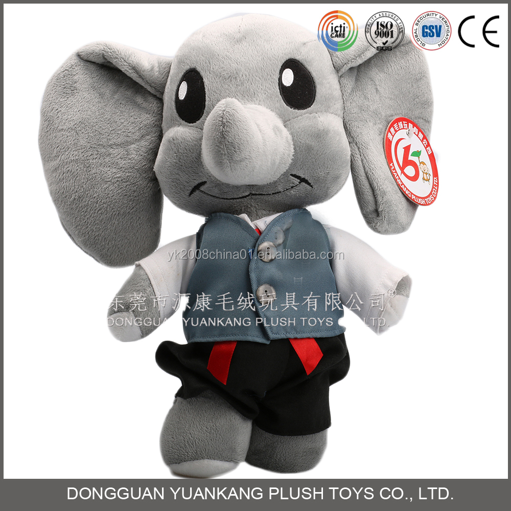 plush and stuffed elephant toys with big ears for event mascot